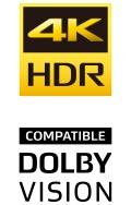 4K HDR、DOLBY VISIONに対応