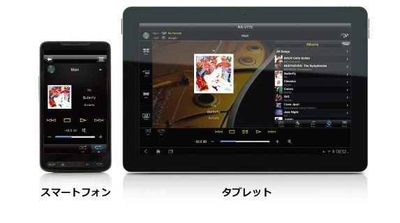 スマートフォンやタブレットから簡単操作